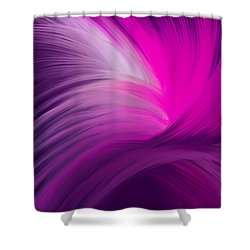 Pink And Purple Swirls Shower Curtain