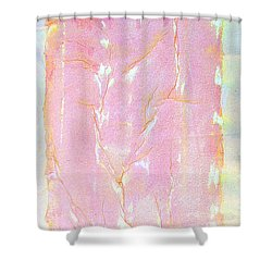 Shower Curtain featuring the painting Pink Angel Softly Passing by Asha Carolyn Young