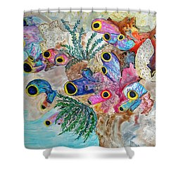Pink Beach Sea Squirts Shower Curtain