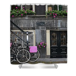 Pink Bikes Of Amsterdam Shower Curtain
