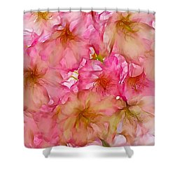 Shower Curtain featuring the digital art Pink Blossom by Lilia D