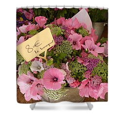 Shower Curtain featuring the photograph Pink Bouquet by Carla Parris