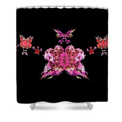 Pink Butterflies Shower Curtain by Bruce Nutting