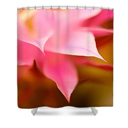 Pink Cactus Flower Abstract Shower Curtain