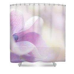 Pink Cloud Shower Curtain by Anne Gilbert