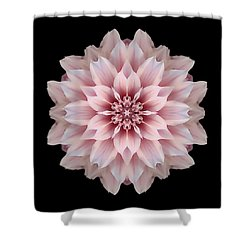 Pink Dahlia Flower Mandala Shower Curtain