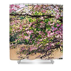 Pink Dogwood I Shower Curtain