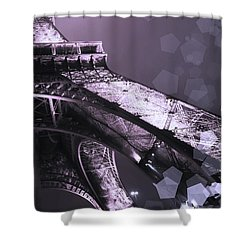 Pink Eiffel French Icon Shower Curtain by Evie Carrier