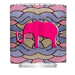 Pink Elephant Shower Curtain by Patrick J Murphy