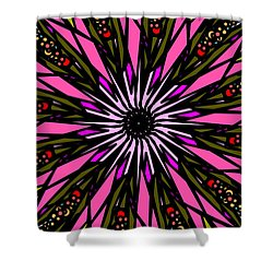 Shower Curtain featuring the digital art Pink Explosion by Elizabeth McTaggart