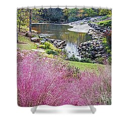 Pink Fall Shower Curtain