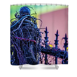 Pink Fence Shower Curtain