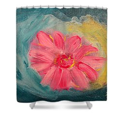 Shower Curtain featuring the painting Pink Flower by Lisa Brandel