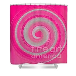 Pink Fluff Shower Curtain by Catherine Lott