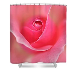 Pink Glow Shower Curtain by Kaye Menner