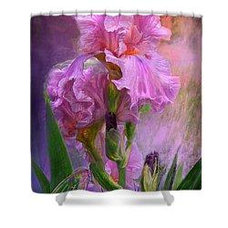 Pink Goddess Shower Curtain by Carol Cavalaris
