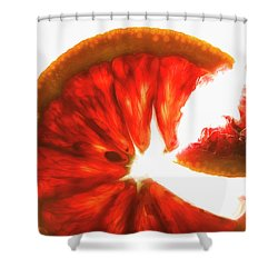 Pink Grapefruit, Backlit Shower Curtain