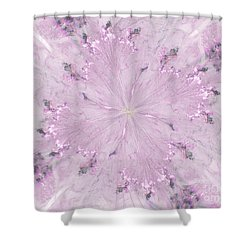 Shower Curtain featuring the digital art Pink Hibiscus by Victoria Harrington