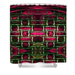 Shower Curtain featuring the painting Pink Illusion by Rafael Salazar