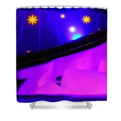 Pink In The Cosmos Shower Curtain by James Welch