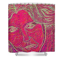 Pink Lady Shower Curtain by Mark Moore