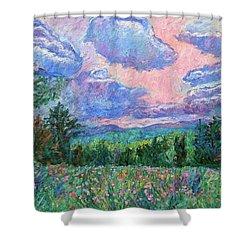 Pink Light Shower Curtain by Kendall Kessler