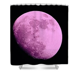 Pink Moon Shower Curtain by Tom Gari Gallery-Three-Photography