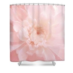 Pink Mum Luminous Painted Blossom Shower Curtain