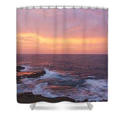 Pink Oahu Sunrise - Hawaii Shower Curtain by Brian Harig