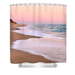 Pink Pastel Beach And Sky Shower Curtain