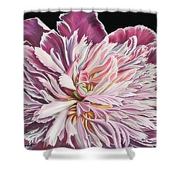 Shower Curtain featuring the painting Pink Peony by Jane Girardot