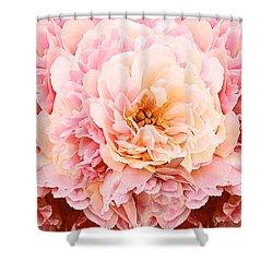 Pink Peony Shower Curtain by Michele Avanti