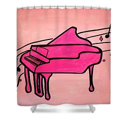 Pink Piano Shower Curtain