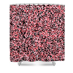 Pink Pixels Shower Curtain
