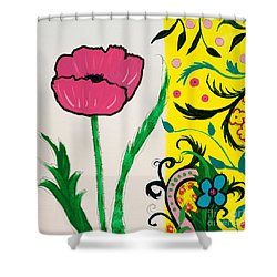 Pink Poppy And Designs Shower Curtain