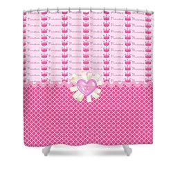 Pink Princess Crowns Shower Curtain by Debra  Miller