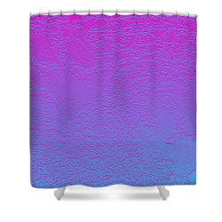 Pink Purple Blue Shower Curtain