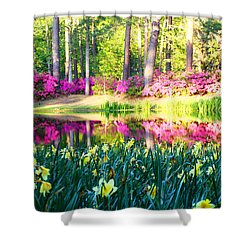 Pink Reflections By Jan Marvin Shower Curtain