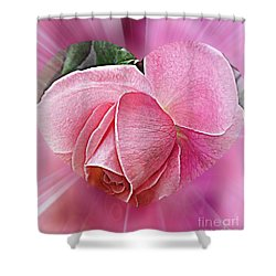 Pink Ribbons Of Light Shower Curtain