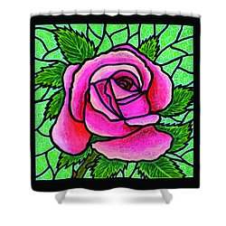 Pink Rose Number 5 Shower Curtain by Jim Harris