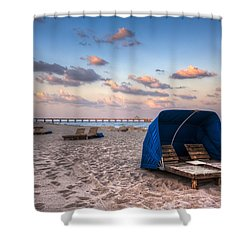 Pink Sands Shower Curtain by Debra and Dave Vanderlaan