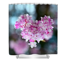 Pink Spring Heart Shower Curtain