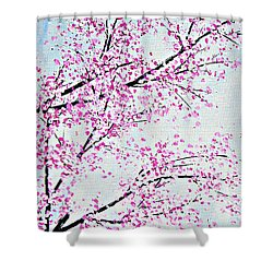 Pink Spring Shower Curtain by Kume Bryant