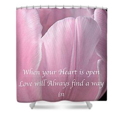 Pink Spring Tulip Shower Curtain