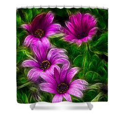 Pink  Shower Curtain by Stelios Kleanthous