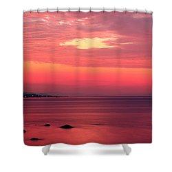 Pink Sunrise  Shower Curtain by Leyla Ismet