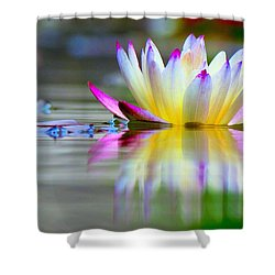 Pink Tips Emerge Shower Curtain