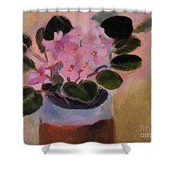 Pink Violets Shower Curtain