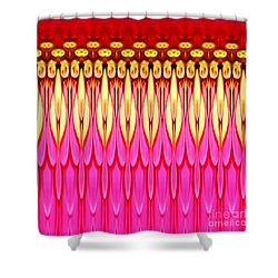 Shower Curtain featuring the photograph Pink Zinnia Polar Coordinate by Rose Santuci-Sofranko