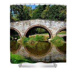 Pinkerton Road Bridge Shower Curtain